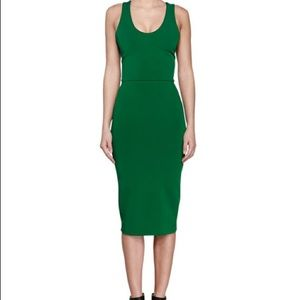 Victoria Beckham V-Back Ponte Sheath Dress